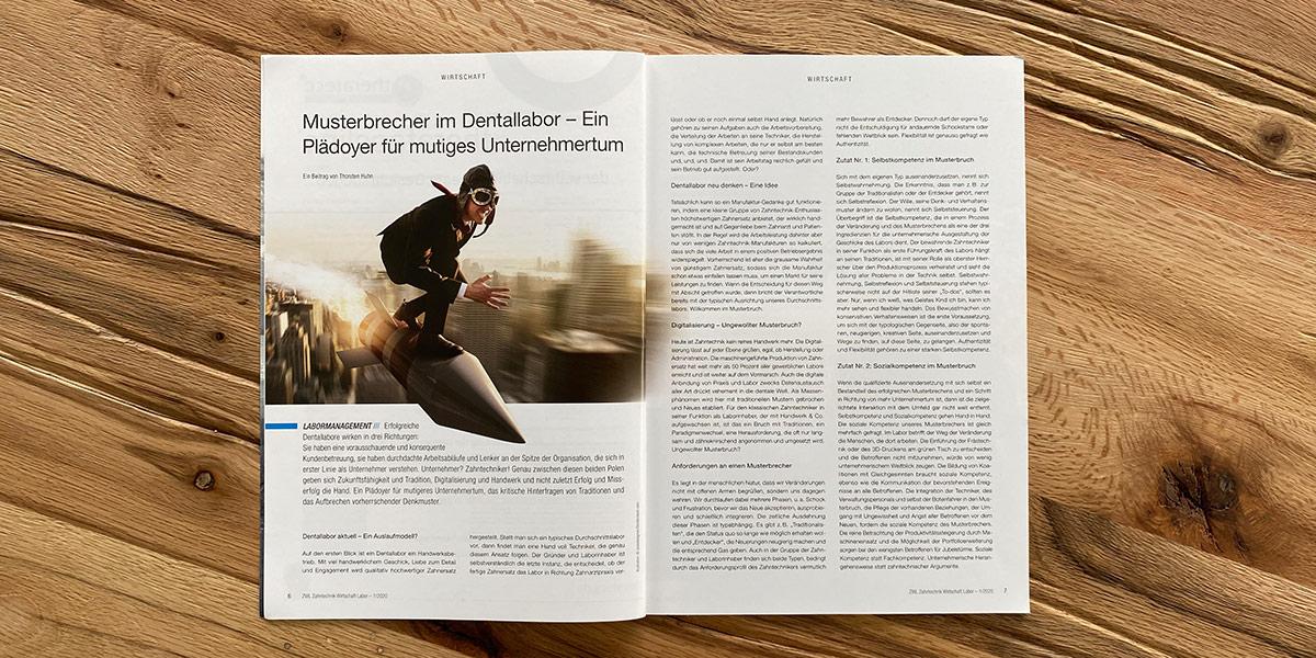Musterbrecher im Dentallabor - Veröffentlicht in der ZWL
